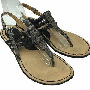 B.O.C. Adrie Braided Snake Thong Sandals Size 9